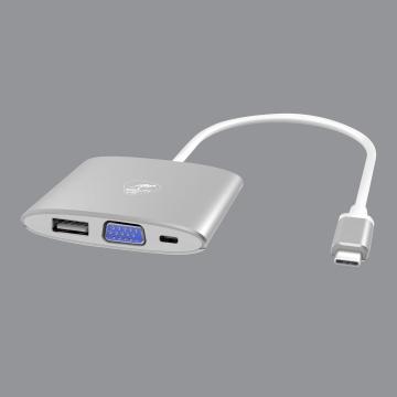 Adaptateur multiport av VGA USB-C pour MAC - Mobility Lab