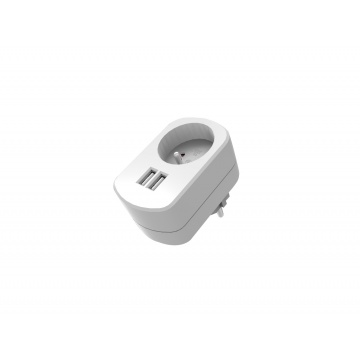 Wall charger + 2 ports USB 2.1A