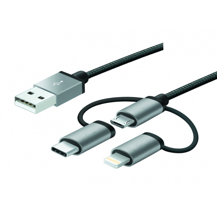 Câble USB 3 en 1 MFI / USB-C / Micro USB