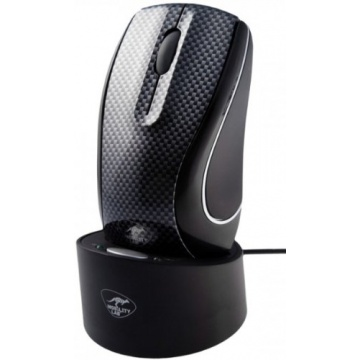 Souris sans fil rechargeable finition CARBON