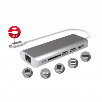 Docking Station USB-C 6 ports