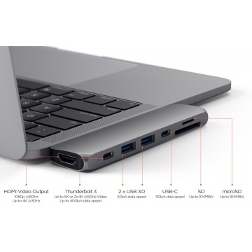 HyperDrive SOLO 7-in-1 USB-C Hub for MacBook, PC & Devices SILVER