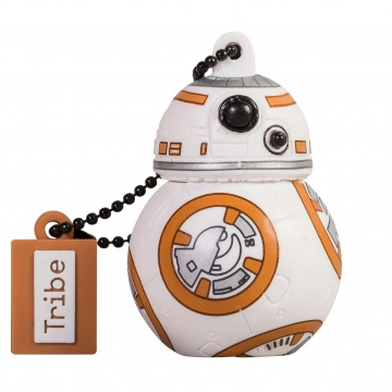 Tribe  Star Wars BB8 Clé USB 16 Go USB Flash Drive 2.0  Stockage USB en PVC avec Porte-Clés