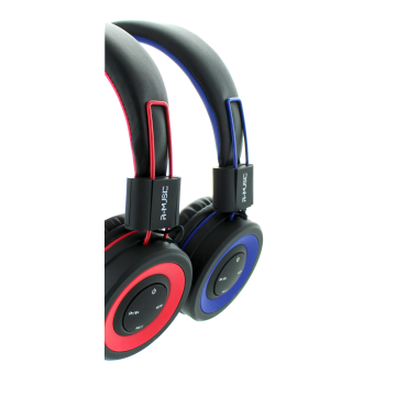 Casque Bluetooth POP R-MUSIC Noir / Rouge
