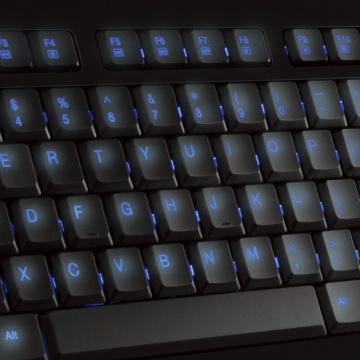Clavier Lumineux Filaire USB - Retroéclairage LED Bleu - AZERTY Français