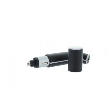 3 en 1 Batterie de secours 2600 mAh rechargeable/ Chargeur de voiture avec 2 pots USB/ Lampe torche