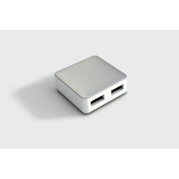 HUB CUBE Silver 4 Ports USB 2.0