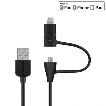 Câble USB to Lightning & Micro USB (certifié Apple)