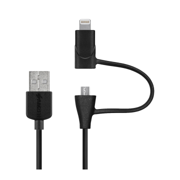 Câble USB to Lightning & Micro USB (certifié Apple)