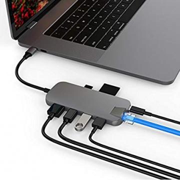 Hyper lecteur USB-C Hub 8en1 Multitype-C Adaptateur pour Macbook,Ultrabook, PC