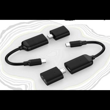 HyperDrive USB-C to 4K60Hz HDMI & Mini DisplayPort Adapter (Black)