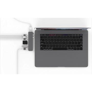 Hyper GN28D PRO Hub USB-C Adaptateur pour Apple MacBook Pro Gris