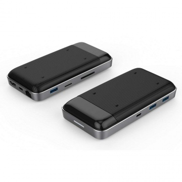 Hyper HD258B 7.5 W USB-C Hub Drive Wireless Charger