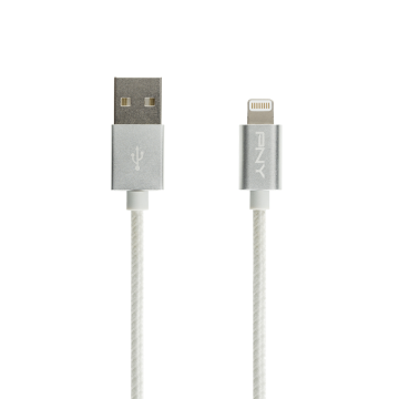 PNY Silver Braided Lightning Cable 1,20m