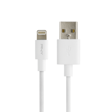PNY White Lightning Charge & Sync Cable - 1,20m