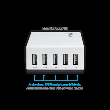 PNY Multi-USB Charger 5 Ports / 25W EU