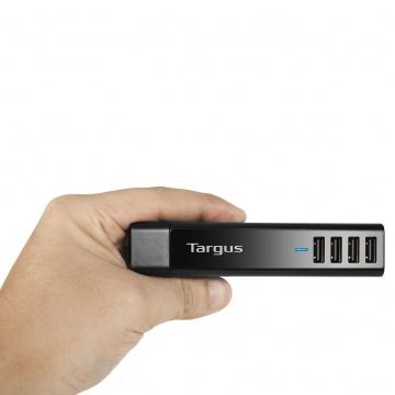 TARGUS Chargeur rapide USB 4 ports 4  PLUS EUROPÉEN- Noir