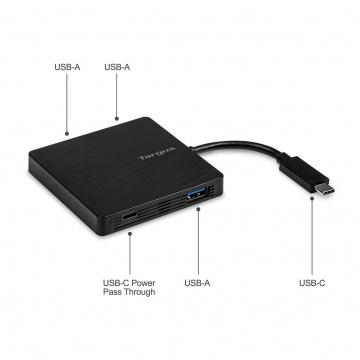 TARGUS HUB USB-C vers 3 ports USB-A - Noir