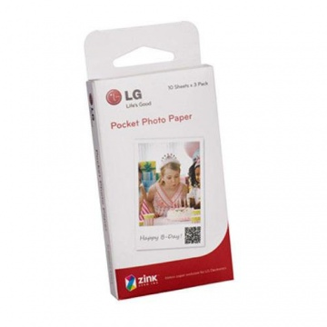 LG Zink Photo paper papier photo lg de poche électronique pour imprimante photo de poche, 3 feuilles, 2x3""