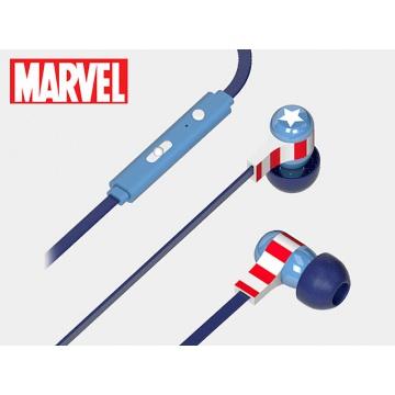 Marvel Écouteurs intra-auriculaire stéréo ergonomique Ultra confortable avec Microphone  Captain America