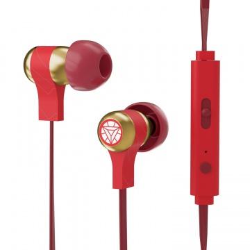 Marvel Écouteurs intra-auriculaire stéréo ergonomique Ultra confortable avec Microphone - Iron Man