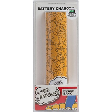 Tribe Batterie Externe de secours Universal Smartphone Chargeur 2600 mAh Motif Simpsons