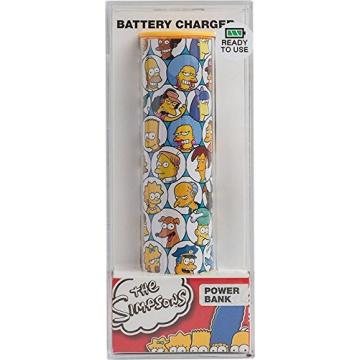 Tribe Batterie Externe de secours Universal Smartphone Chargeur 2600 mAh Motif Simpsons - Springfield