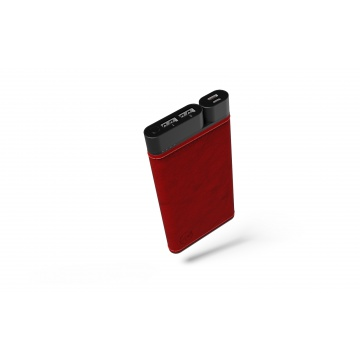 Powerbank X10 10'000 mAh Cuir- Red