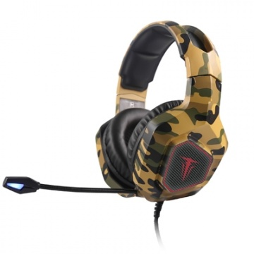 ARMY-THOR Casque Gaming BK-OR-GREEN