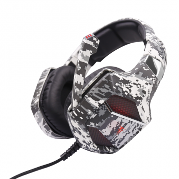 ARMY-EMBLA Casque Gaming BK-WHITE