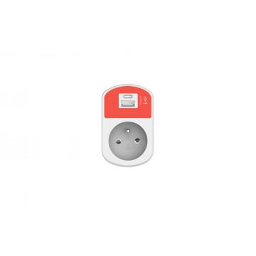 Prise murale + USB + USB-C White