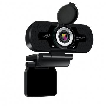 Webcam HD USB avec microphone & cache lentille