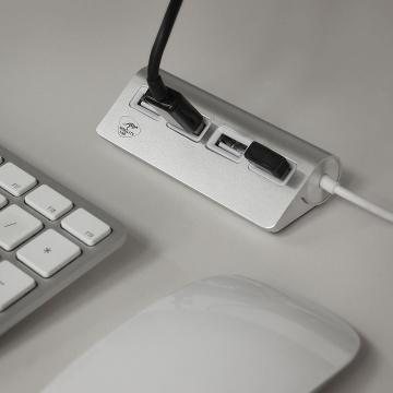 Hub cylindrique à 4 ports USB pour Mac et PC – Mobility Lab